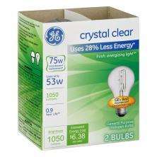 GE Light Bulbs, Halogen, Crystal Clear, 53 Watts