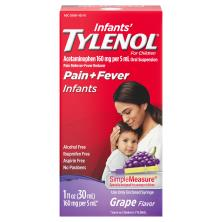 Tylenol Infants' Pain + Fever, Infants, Oral Suspension, Grape Flavor