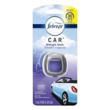 Febreze Car Air Freshener, Vent Clip, Midnight Storm