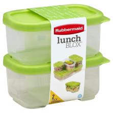 Rubbermaid Lunch Blox Containers, 1.2 Cups, 2 Pack Ensemble
