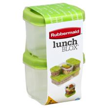 Rubbermaid Lunch Blox Containers, 0.5 Cup, 2 Pack Ensemble