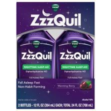 Vicks ZzzQuil Nighttime Sleep Aid, Warming Berry