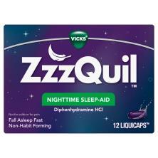 Vicks ZzzQuil Sleep-Aid, Nighttime, LiquiCaps