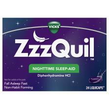 Vicks ZzzQuil Nighttime Sleep Aid, LiquiCaps