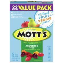 Motts Medleys Fruit Flavored Snacks, Assorted Fruits, Value Pack