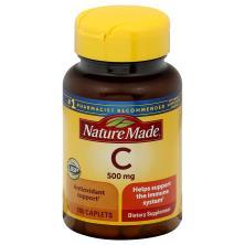 Nature Made Vitamin C, 500 mg, Caplets