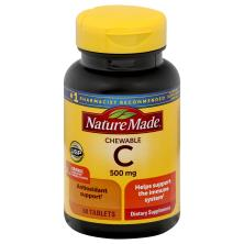 Nature Made Vitamin C, 500 mg, Chewable, Tablets, Orange