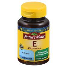 Nature Made Vitamin E, 180 mg, Softgels