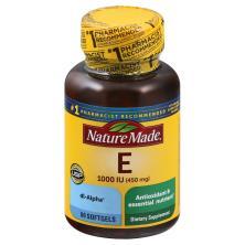 Nature Made Vitamin E, 450 mg, Softgels
