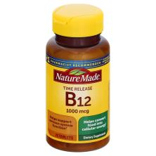 Nature Made Vitamin B-12, 1000 mcg, Tablets