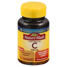 Nature Made Vitamin C, 500 mg, with Rose Hips, Timed Release, Tablets