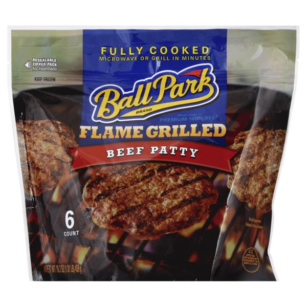 Ball Park Beef Patty, Flame Grilled