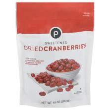 Publix Cranberries, Dried, Sweetened
