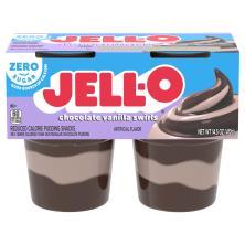 Jell O Pudding Snacks, Reduced Calorie, Sugar Free, Chocolate Vanilla Swirls