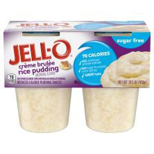 Jell O Pudding Snacks, Reduced Calorie, Sugar Free, Creme Brulee Rice Pudding