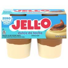 Jell O Pudding Snacks, Reduced Calorie, Sugar Free, Dulce de Leche