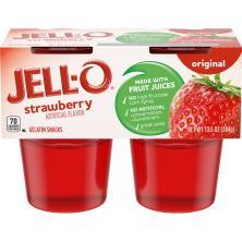 Jell O Gelatin Snacks, Original, Strawberry