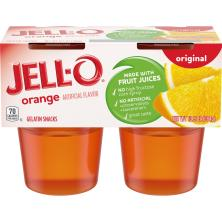 Jell O Gelatin Snacks, Original, Orange