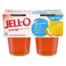 Jell O Gelatin Snacks, Low Calorie, Orange