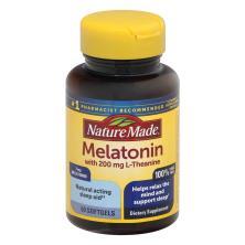 Nature Made Melatonin+ L-Theanine, Softgels