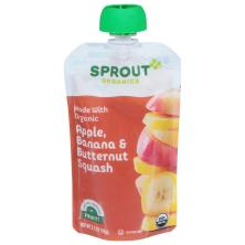 Sprout Baby Food, Organic, Apple Banana Butternut Squash, 2 (6 Months & Up)