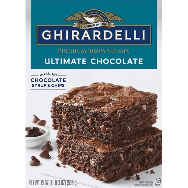 Ghirardelli Brownie Mix, Premium, Triple Fudge