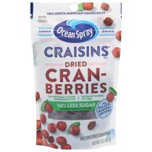 Ocean Spray Craisins Dried Cranberries, Reduced Sugar