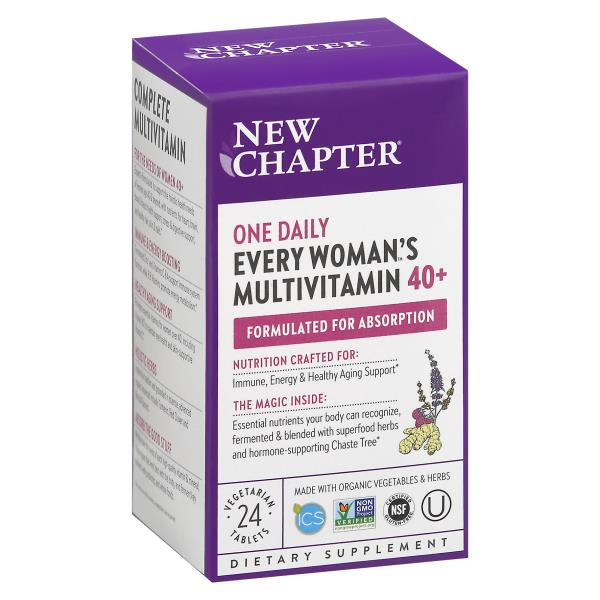 New Chapter Organics Dietary Supplement, 40+ Every Woman's One Daily