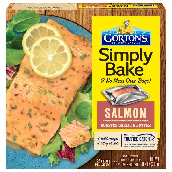 Gortons Simply Bake Salmon, Roasted Garlic & Butter