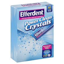 Efferdent Denture Cleanser, Anti-Bacterial, Power Clean Crystals, Icy Mint Packets
