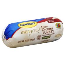 Butterball Turkey, with Natural Flavoring, Ground, Frozen