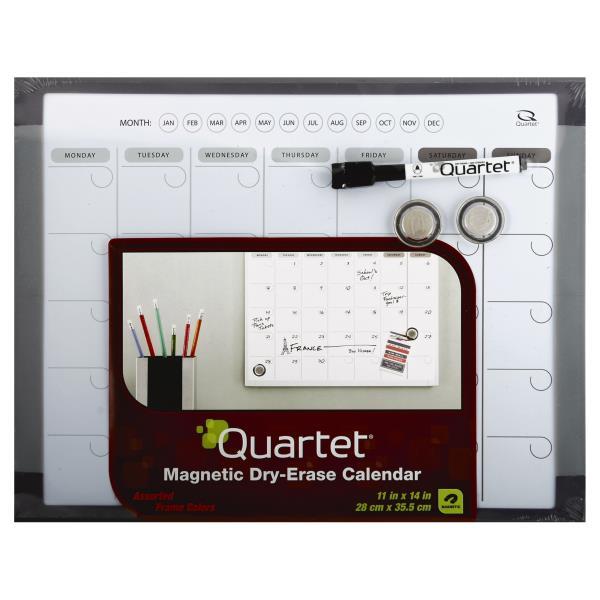 Quartet Dry-Erase Calendar, Magnetic, Assorted Frame Colors : Publix.com