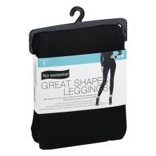 No Nonsense  Great Shapes Leggings, Size M, Black