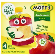 Motts Snack & Go! Applesauce,  Portable Pouches, Original