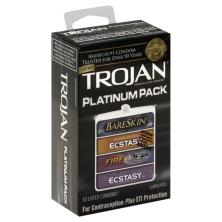 Trojan Condoms, Premium Latex, Lubricated, Platinum Pack