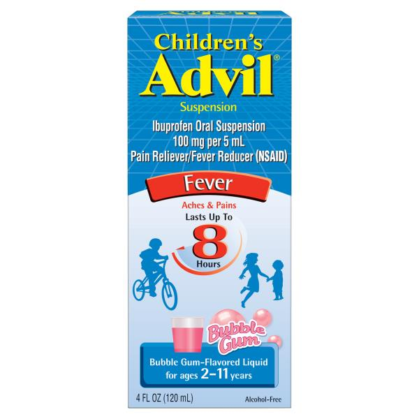 Advil Fever, Children's, Suspension, Bubble Gum-Flavored