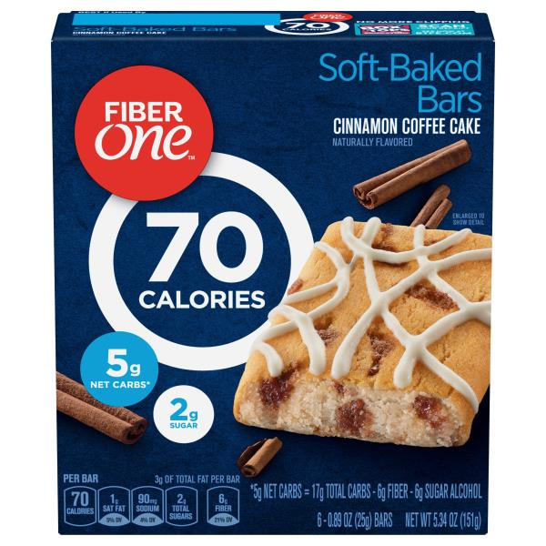 Fiber One 90 Calorie Baked Bars, Cinnamon Coffee Cake