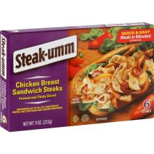 Steak Umm Sandwich Steaks, Chicken Breast