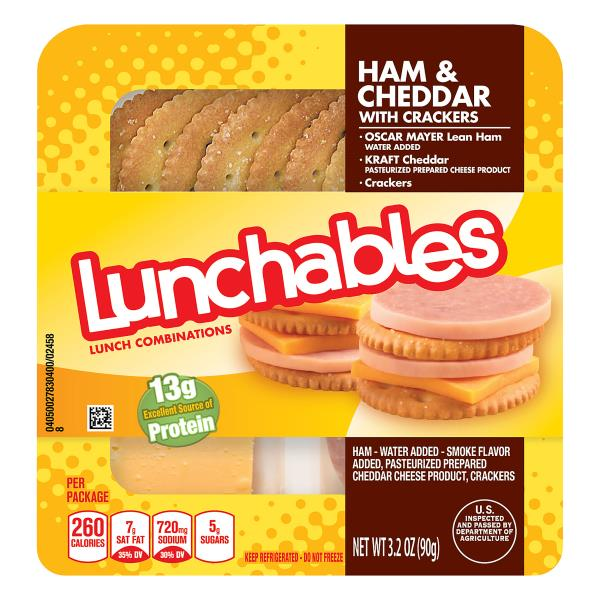 Lunchables Lunch Combinations, Ham & Cheddar, with Crackers