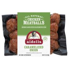 Aidells Meatballs, Chicken, Caramelized Onion