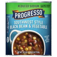 Progresso Reduced Sodium Soup, Southwest Style Black Bean & Vegetable