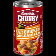 Campbells Chunky Soup, Spicy Chicken Quesadilla