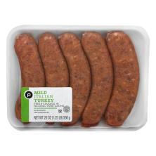 Publix Mild Italian Turkey Sausage, Our Exclusive Recipe