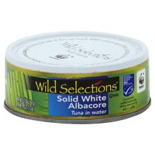 Wild Selections Tuna, White Albacore, Solid, in Water