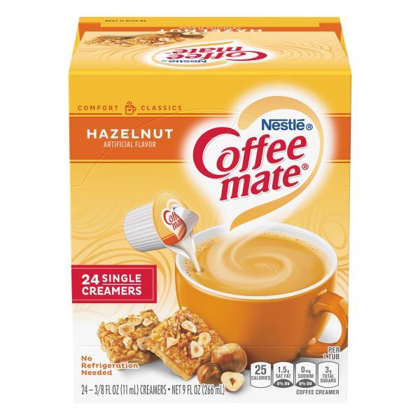 Coffee Mate Coffee Creamer, Hazelnut, Single Serve Portions