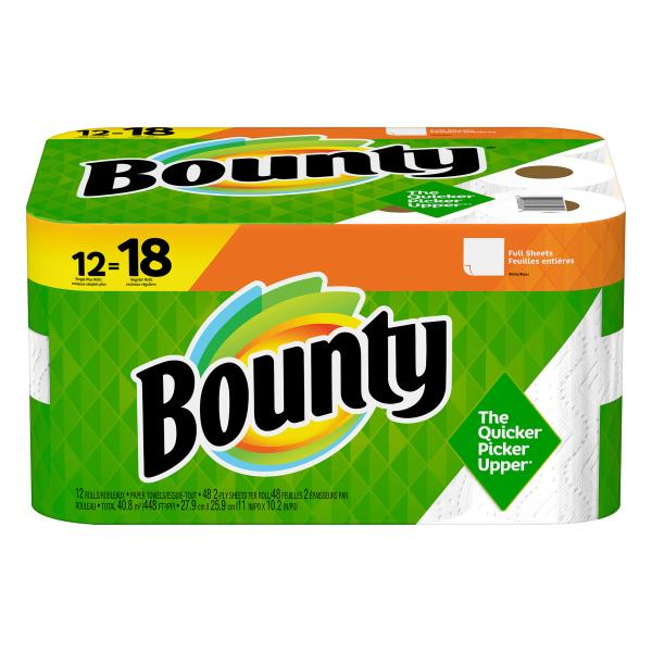 4387be36b9f Bounty Paper Towels Large Rolls Full Sheets White 2 Ply Publix. Bounty  Select A Size ...