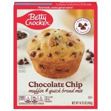 Betty Crocker Muffin & Quick Bread Mix, Chocolate Chip