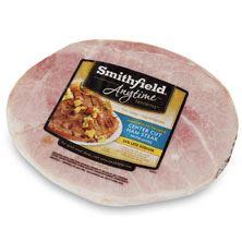 Smithfield Ham Slice,Center Cut, Smoked Fully Cooked