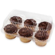 Fudge Iced Vanilla Cupcakes, 6-Count