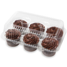 Fudge Iced Chocolate Cupcakes, 6-Count
